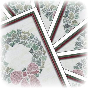 TBC-0662: Christmas Crazy Wreath Notecards