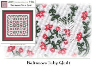 BQ-7301: Baltimore Tulip Quilt