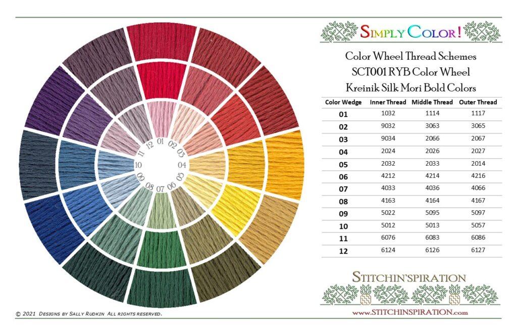 Thread Scheme - SCT001 Kreinik Silk Mori