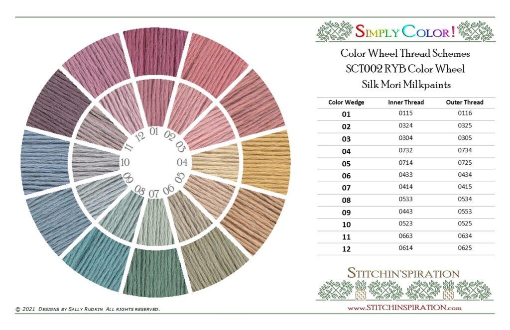 Thread Scheme - SCT002 Kreinik Silk Mori Milkpaints