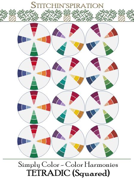 Color Harmonies - Tetradic (Squared)