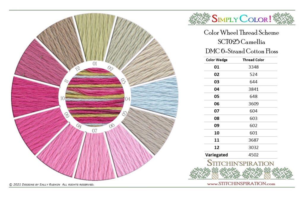 Thread Scheme - SCT025 Camellia