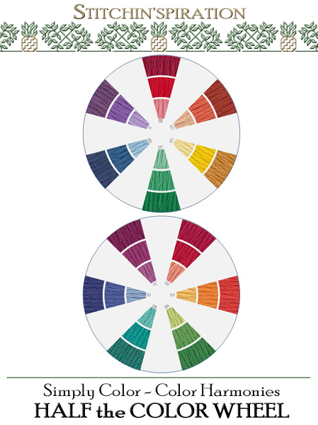 Color Harmonies - Half Color Wheel