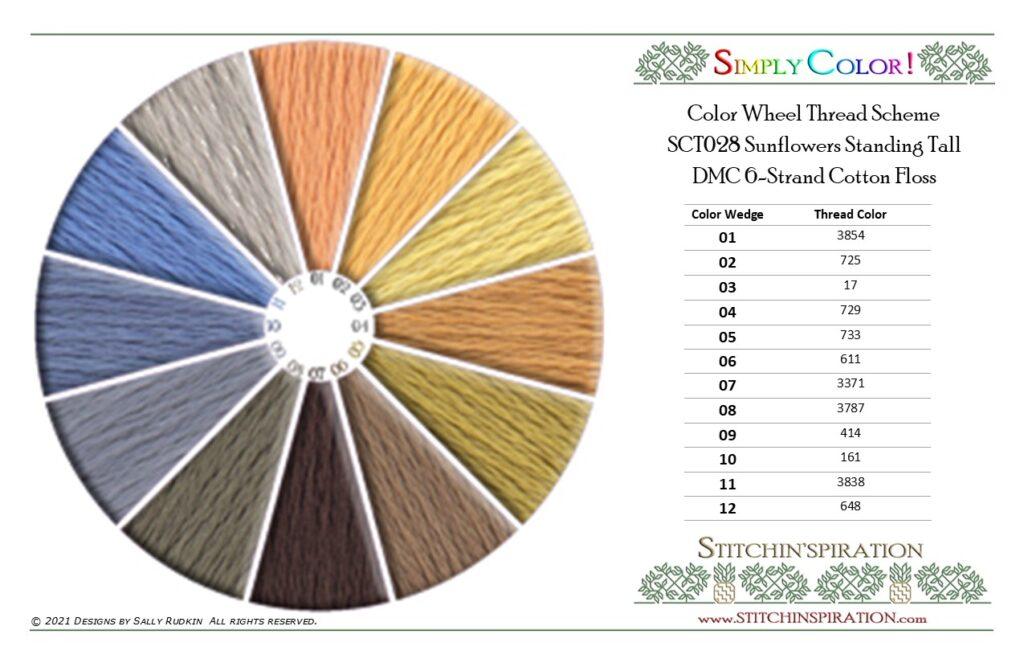 Thread Scheme - SCT028 Sunflowers Standing Tall