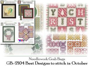 GB-2104-CHT: Needlework Grab Bag - 4 Best Designs to Stitch in October